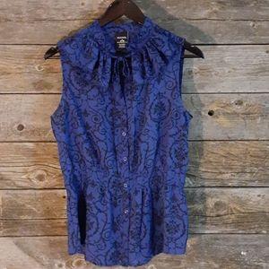 George Medium Sheer sleeveless blouse